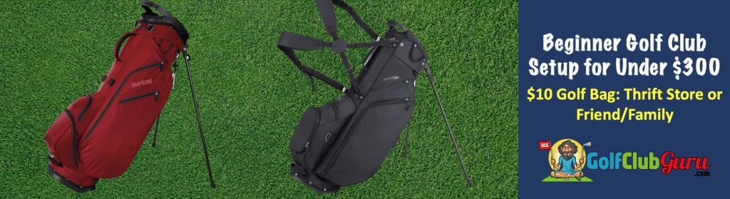 golf bag stand cart used 2020 for beginner