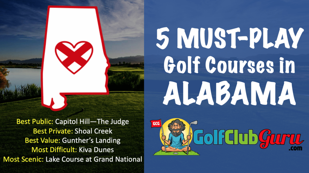 5 must play golf courses in the state of alabama