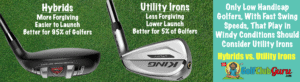 hybrids vs long iron swing difference
