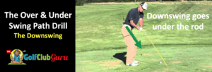 how to stop coming over the top and hitting slices rod in to out swing path drill training aid