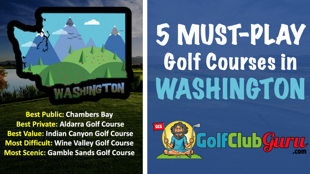 the top 5 golf courses in washington