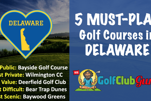 the top 5 golf courses in delaware
