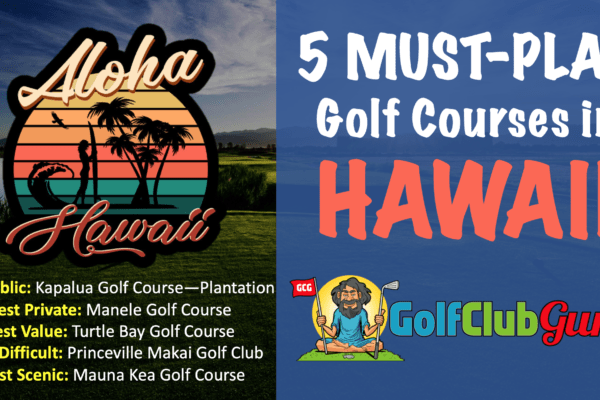 the best 5 best golf courses in hawaii that you can play