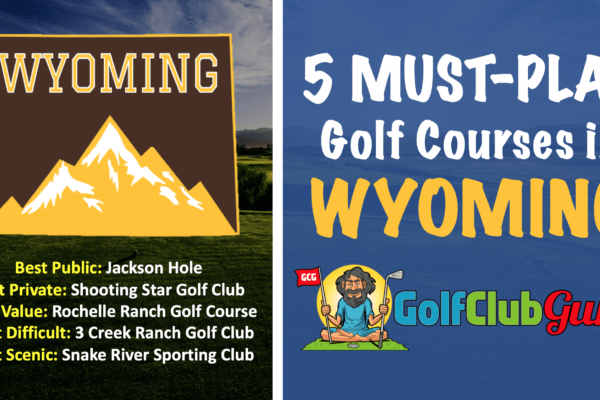 the best 5 wyoming public golf courses