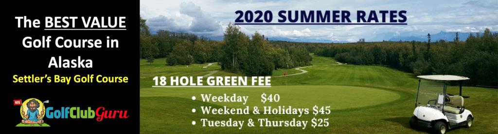 the best value budget bargain golf course in alaska
