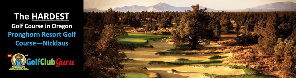 tee times for pronghorn resort hardest longest golf course in oregon