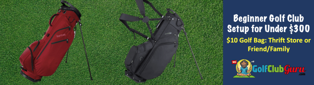 golf bag standing walking carrying lightweight for teenager or high school golfer