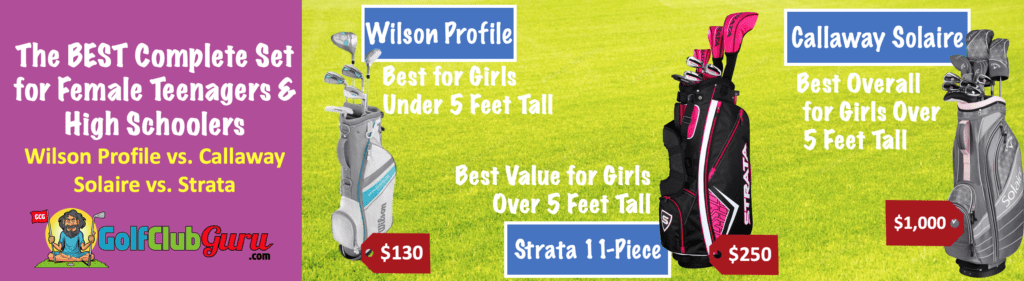 the best complete set of golf clubs for girls women females ladies teenager