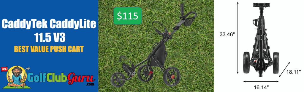 the best value push cart under 100 150
