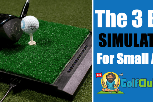 the best golf simulators for smaller areas home inside outside net screen launch monitor