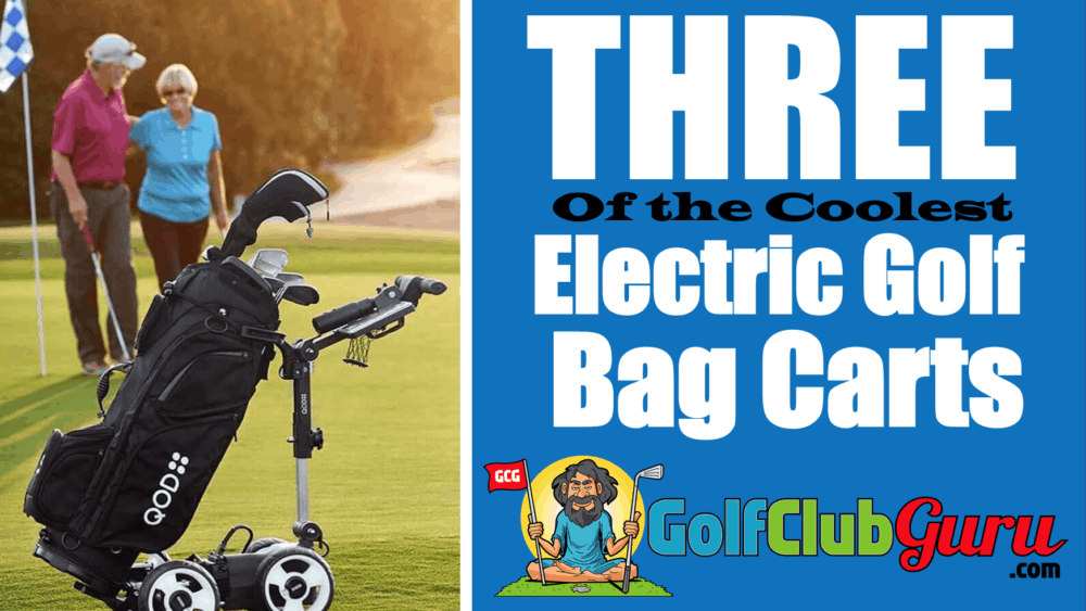 the coolest electric remote controlled battery automatic golf bag carts