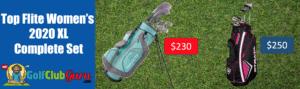 top flite vs callaway strata complete set comparison golf difference price