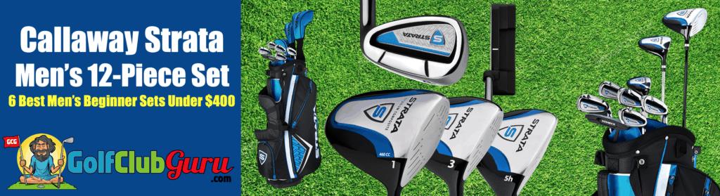 callaway strata golf clubs under $400 complete set beginner guys men