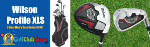 wilson profile xls complete set driver irons bag