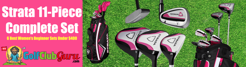the best beginners value complete set of womens golf clubs ladies females budget bargain deal