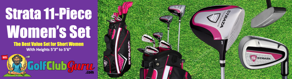 the best value complete set of golf clubs for short women under 54 inches