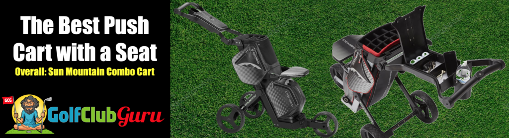 push cart and golf bag in one combination