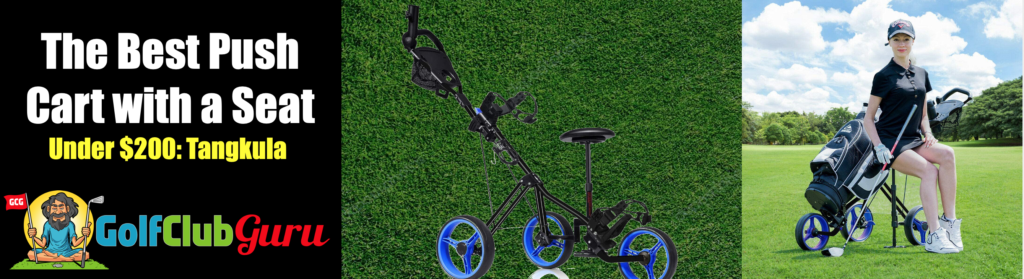 the best golf bag push cart with seat under $200