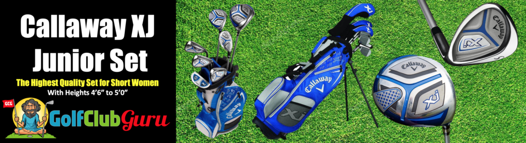 callaway xj set for short female golfer under 50 inches