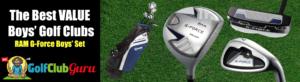 g-force ram boys kids junior golf clubs