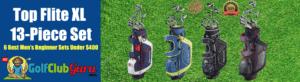 top flite topflite 13 piece golf clubs for beginner men complete set
