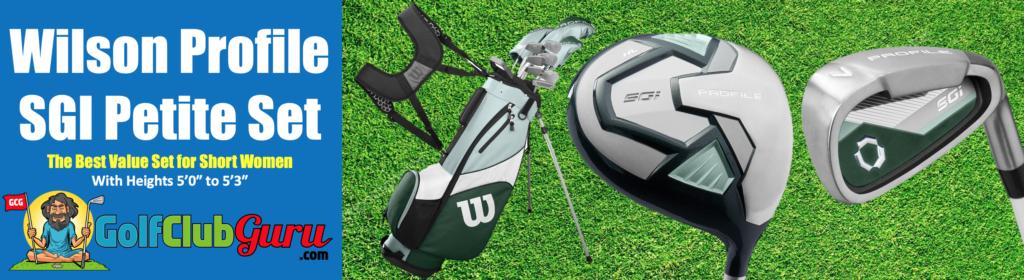 shortened golf petite clubs for shorter women