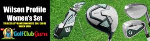 super forgiving long distance left handed golf club complete set for women ladies