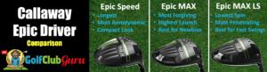 callaway epic speed vs max vs max ls difference comparison head to head