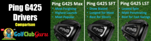 ping g425 driver comparison max lst sft