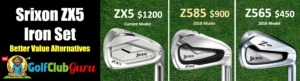 srixon zx5 z585 z565 iron set comparison difference