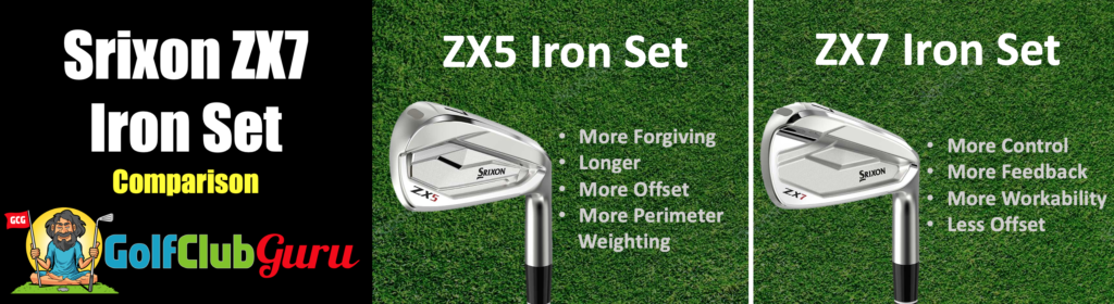 srixon zx7 iron set comparison zx5