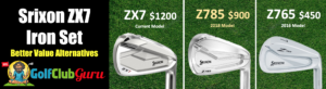 price difference golf clubs srixon zx7 irons z785 z765
