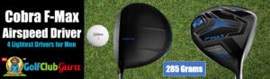 cobra f-max lightest driver ever