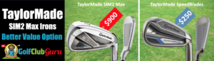 taylormade sim2 max irons vs speedblade comparison
