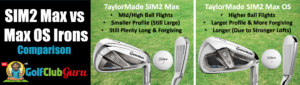 taylormade sim2 max vs max os oversized comparison