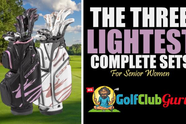 lightweight complete set of clubs for senior women