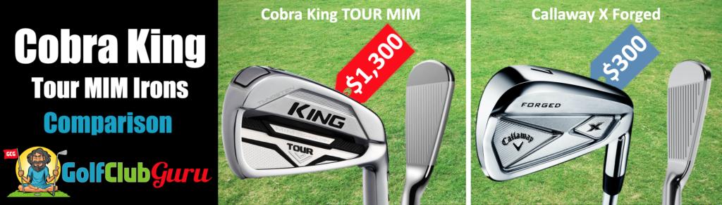 cobra king tour mim irons comparison vs callaway x forged