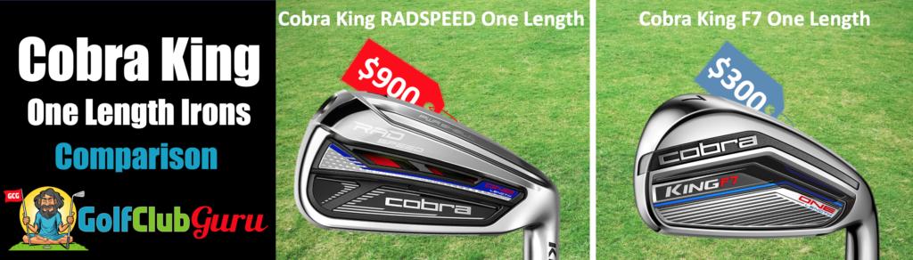 cobra king radspeed one length iron set comparison