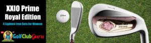 xxio lightest golf clubs for women seniors to gain distance