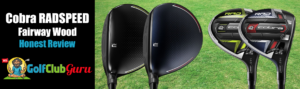 address sole club face of cobra king radspeed fairway woods