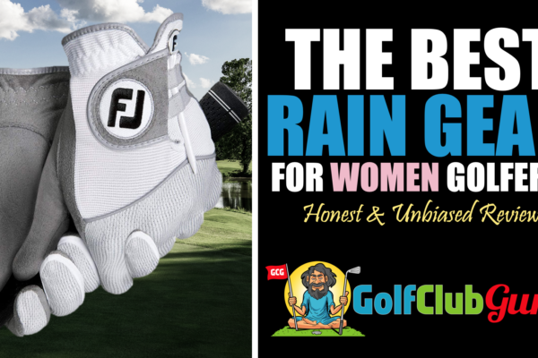 the best golf rain gear for women golfers