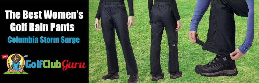 waterproof women pants for golf lightweight comfortable