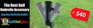 golf push cart umbrella holder universal