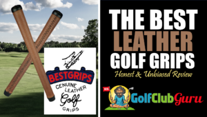 the best leather golf grips authentic hand sewn
