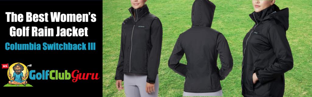 super lightweight durable rain jacket for women golfer