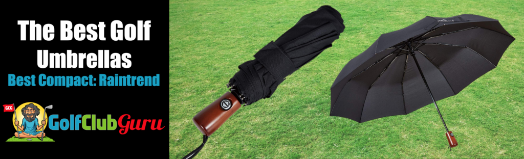 super small compact collapsible umbrella for golf bag