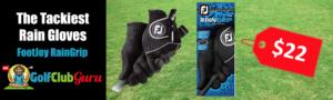 sticky tacky golf gloves for rain moisture sweat footjoy raingrip